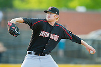 Kannapolis Intimidators relief pitcher Ryan Bollinger (31) in action against the Hickory Crawdads at L.P. Frans Stadium on May 25, 2013 in Hickory, North Carolina.  The Crawdads defeated the Intimidators 14-3.  (Brian Westerholt/Four Seam Images)