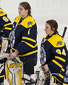 Léa-Kristine Demers (Merrimack - 1), Samantha Ridgewell (Merrimack - 34) - The number one seeded Boston College Eagles defeated the eight seeded Merrimack College Warriors 1-0 to sweep their Hockey East quarterfinal series on Friday, February 24, 2017, at Kelley Rink in Conte Forum in Chestnut Hill, Massachusetts.The number one seeded Boston College Eagles defeated the eight seeded Merrimack College Warriors 1-0 to sweep their Hockey East quarterfinal series on Friday, February 24, 2017, at Kelley Rink in Conte Forum in Chestnut Hill, Massachusetts.