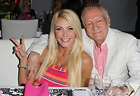 "27 September 2017 - Hugh Marston Hefner aka ""Hef"" was an American magazine publisher, editor, businessman, and international playboy best known as the editor-in-chief and publisher of Playboy magazine, which he founded in 1953. Hefner was the founder and chief creative officer of Playboy Enterprises, the publishing group that operates the magazine. Hefner was also a political activist and philanthropist. File Photo: 9 May 2013 - Hombly Hills, California - Crystal Hefner, Hugh Hefner. Playboy's 2013 Playmate Of The Year Luncheon Honoring Raquel Pomplun Held At The Playboy Mansion. Photo Credit: Kevan Brooks/AdMedia (Newscom TagID: admphotos907445.jpg) [Photo via Newscom]"