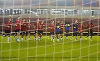 Panama City, Panama - Sunday, October 13, 2013: The US Men's National team training session at Estadio Rommel Fernandez.