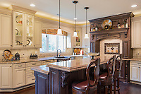 Upscale kitchen interior design.