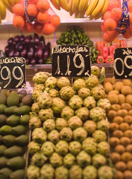 In the Mercat de la Boqueria, a large food market in Barcelona, Spain. Photo by Kevin J. Miyazaki/Redux