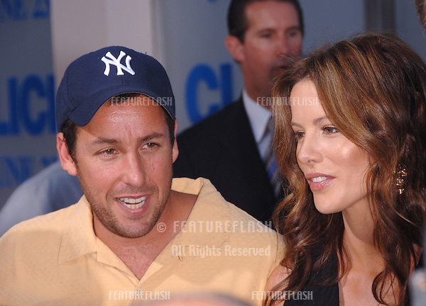 "Actress KATE BECKINSALE & actor ADAM SANDLER at the Los Angeles premiere of their new movie ""Click""..June 14, 2006  Los Angeles, CA.© 2006 Paul Smith / Featureflash"