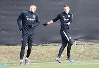 Ante Rebic (Eintracht Frankfurt), Mijat Gacinovic (Eintracht Frankfurt) - 20.02.2019: Eintracht Frankfurt Training, UEFA Europa League, Commerzbank Arena, DISCLAIMER: DFL regulations prohibit any use of photographs as image sequences and/or quasi-video.