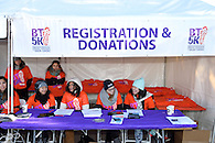 The registration table.