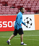 UEFA Champions League, Barcelona, Camp Nou, Press conference before match FC Barcelona v FC Viktoria Plzen. Picture show Andres Iniesta