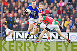 Peter Crowley Kerry in action against Kevin McLoughlin Mayo in the National Football League in Austin Stack Park on Sunday..