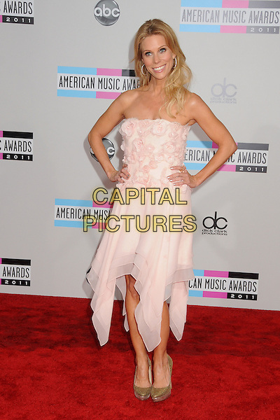Cheryl Hines.2011 American Music Awards - Arrivals held at Nokia Theatre LA Live, Los Angeles, California, USA..November 20th, 2011.ama amas ama's full length pink strapless dress corsage hand on hip.CAP/ADM/BP.©Byron Purvis/AdMedia/Capital Pictures.