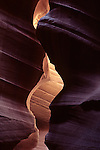 Antelope Canyon, rock formations inside slot canyon, near Page, Arizona State USA