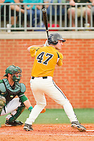 Dane Opel #47 of the Missouri Tigers at bat against the Charlotte 49ers at Robert and Mariam Hayes Stadium on February 27, 2011 in Charlotte, North Carolina.  Photo by Brian Westerholt / Four Seam Images
