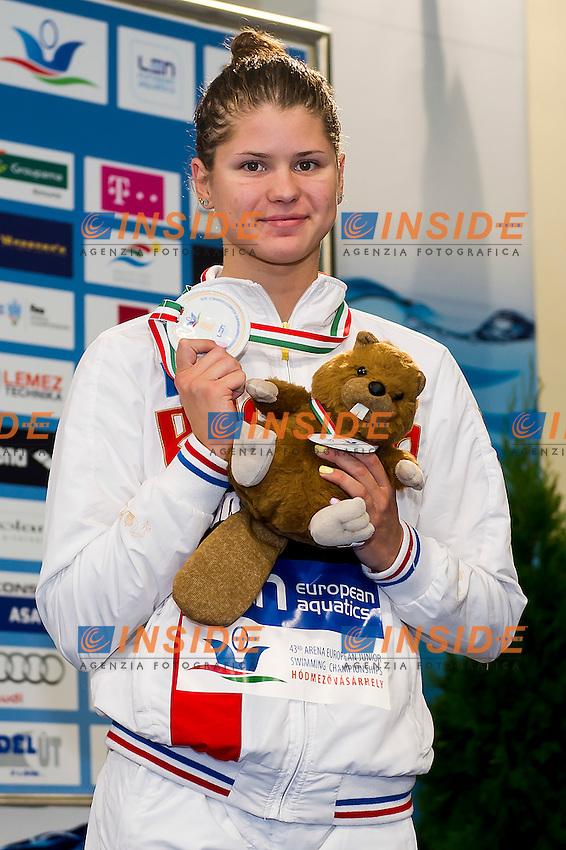 Kameneva Mariia RUS<br /> 100 Freestyle Women Final Bronze Medal<br /> LEN 43rd Arena European Junior Swimming Championships<br /> Hodmezovasarhely, Hungary <br /> Day02 07-07-2016<br /> Photo Andrea Masini/Deepbluemedia/Insidefoto