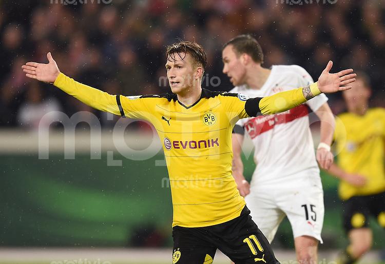 Fussball DFB Pokal Viertelfinale 2015/2016 08.02.2016 VfB Stuttgart - Borussia Dortmund Marco Reus (Borussia Dortmund) jubelt