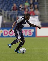 New England Revolution midfielder Sainey Nyassi (14) at midfield. The New England Revolution defeated the New York Red Bulls, 3-2, at Gillette Stadium on May 29, 2010.
