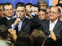 SAO PAULO, SP, 25 DE MARCO 2013 - CONVENÇÃO ESTADUAL DO PSDB -  O senador Aécio Neves durante Conveção estadual do PSDB-SP  na noite desta segunda-feira. 25 no sede do partido na regiao sul da cidade de Sao Paulo. FOTO: WILLIAM VOLCOV - BRAZIL PHOTO PRESS