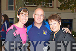 RUN: Honor Hurley,Malachy and Liz McDade who ran in the Tralee Branch of the Carers Association 10k Mini Marathon outside the Brandaon Hotel, Tralee on Sunday...