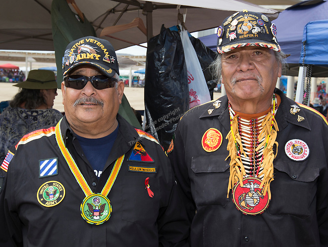 William Wadsworth and Gary McCloud at the Numaga Indian Days Pow Wow in Hungry Valley on Saturday, Sept. 3, 2016.