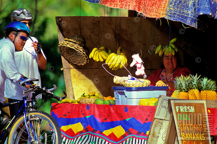 Fruit stand off the side of the road in Laie, North Shore