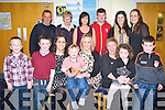 ANNAUL: The Portmagee Down Syndrome group who held theyir annaul night out at the dogs att the Kingdom Greyhound Stadium,Tralee on Saturday night. FRont l-r: Luke and Darren O'Sullivan, Mary Casey,Sean O'Sullivan, Annmarie O'Sullivan, Beatrice and Lauren McElligott. Back l-r: Patie and Mary Casey, Catriona,Daniel and Tara O'Sullivan, Patricia Casey and Dyland O'Connell.