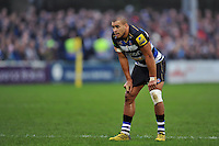 Jonathan Joseph of Bath Rugby looks on during a break in play. Aviva Premiership match, between Bath Rugby and Worcester Warriors on December 27, 2015 at the Recreation Ground in Bath, England. Photo by: Patrick Khachfe / Onside Images