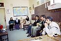 Irak 2000.Salle des professeurs dans une école de Halabja.  Iraq 2000.Staffroom in a school of Halabja