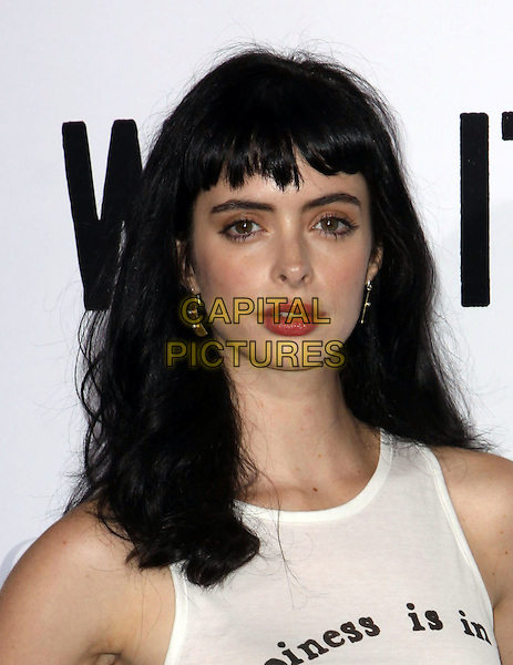 "KRYSTEN RITTER .""Whip It"" Los Angeles Premiere held At Grauman's Chinese Theatre, Hollywood, California, USA..September 29th, 2009.headshot portrait white red lipstick fringe bangs hair .CAP/ADM/KB.©Kevan Brooks/AdMedia/Capital Pictures."