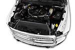 Car Stock 2015 Ram 2500 Laramie Mega Cab 4 Door Truck Engine high angle detail view