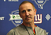 Steve Spagnuolo, New York Giants Defensive Coordinator, speaks to the media during the first day of team Rookie Camp at Quest Diagnostics Training Center in East Rutherford, NJ on Friday, May 12, 2017.