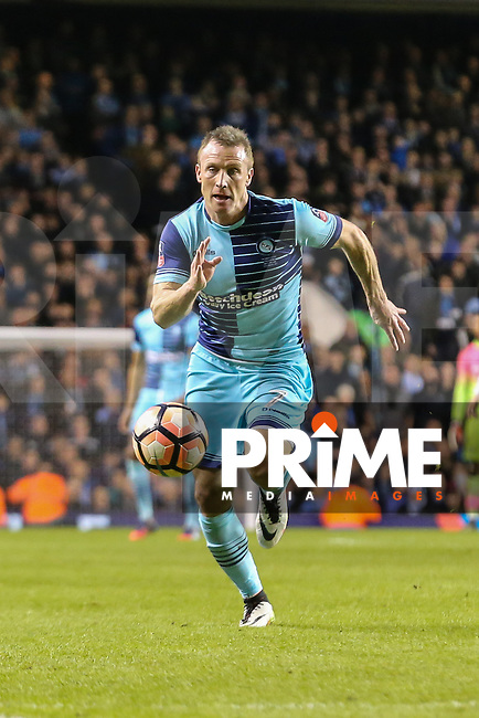 Garry Thompson of Wycombe Wanderers during the FA Cup 4th round match between Tottenham Hotspur and Wycombe Wanderers at White Hart Lane, London, England on 28 January 2017. Photo by PRiME Media Images / David Horn.