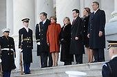 United States House Minority Leader Nancy Pelosi (Democrat of California) with her husband, Paul Pelosi; U.S. House Majority Leader Eric Cantor (Republican of Virginia) with his wife, Diana Cantor; Speaker of the U.S. House John Boehner (Republican of Ohio) with his wife, Debbie, participate in the presidential review of the troops at the East Front of the Capitol following President Barack Obama's inaugural swearing-in ceremony in Washington, DC, on January 21, 2013.     .Credit: Linda Davidson / Pool via CNP