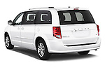 Car pictures of rear three quarter view of 2018 Dodge Grand-Caravan SXT 5 Door Minivan Angular Rear