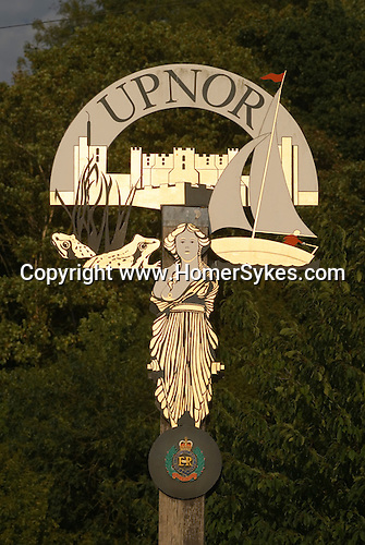 Upnor Kent Uk Village sign.