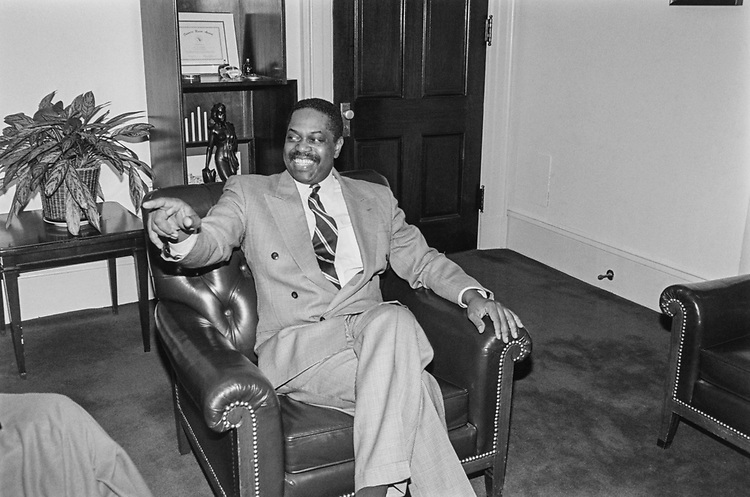 Congressman Charles Moreland in office, in March 1993. (Photo by Laura Patterson/CQ Roll Call via Getty Images)