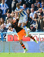 Sheffield Wednesday's Daniel Pudil vies for possession with Huddersfield Town's Tommy Smith<br /> <br /> Photographer Chris Vaughan/CameraSport<br /> <br /> The EFL Sky Bet Championship Play-Off Semi Final First Leg - Huddersfield Town v Sheffield Wednesday - Saturday 13th May 2017 - The John Smith's Stadium - Huddersfield<br /> <br /> World Copyright &copy; 2017 CameraSport. All rights reserved. 43 Linden Ave. Countesthorpe. Leicester. England. LE8 5PG - Tel: +44 (0) 116 277 4147 - admin@camerasport.com - www.camerasport.com