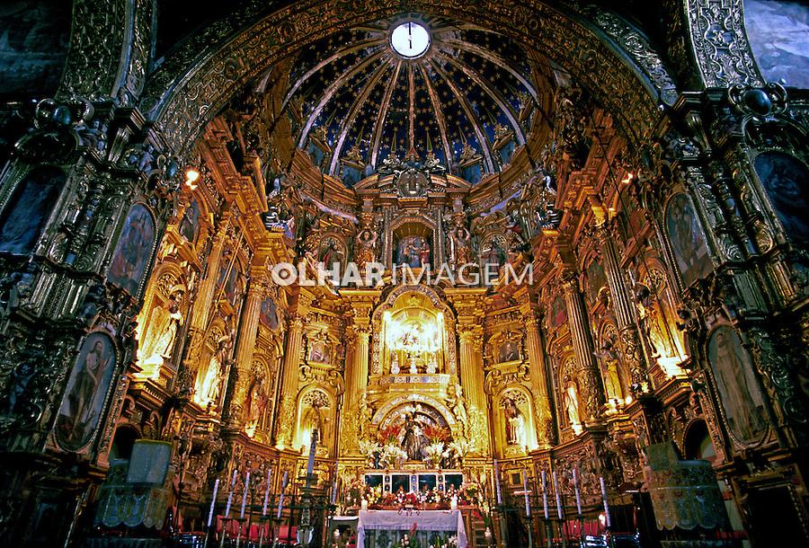 Vista interna da Igreja São Francisco. Quito. Equador. Foto de Juca Martins. Data: 1997