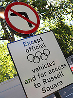 24.07.2012. London England. In preapring for The Olympic Summer Games in London 2012 Picture shows a temorary traffic signal controlling vehicles access