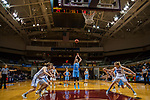 GRAND RAPIDS, MI - MARCH 18: Michela North (24) of Tufts University shoots free throws during the Division III Women's Basketball Championship held at Van Noord Arena on March 18, 2017 in Grand Rapids, Michigan. Amherst College defeated Tufts University 52-29 for the national title. (Photo by Brady Kenniston/NCAA Photos via Getty Images)