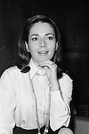 Manhattan, New York City,  USA. December 14th, 1969. German actress Karin Dor at the press conference for the release of the film Topaz directed by Alfred Hitchcock. Dor played the role of Juanita de Cordoba in the film.