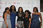 Kimmie Smith, Siamanda Carge, Beverly Johnson, Alexandreena Dixon, Bisila Bokoko at Color of Beauty Awards honoring supermodel Beverly Johnson on February 4, 2014 at Holy Apostles, New York City, New York. (Photo by Sue Coflin/Max Photos)