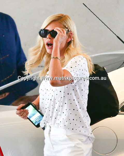 22 OCTOBER 2017 SYDNEY AUSTRALIA<br /> WWW.MATRIXPICTURES.COM.AU<br /> <br /> EXCLUSIVE PICTURES<br /> <br /> Sophie Monk pictured with Oscar Gordon arriving at Ten Studios Pyrmont. <br /> <br /> Note: All editorial images subject to the following: For editorial use only. Additional clearance required for commercial, wireless, internet or promotional use.Images may not be altered or modified. Matrix Media Group makes no representations or warranties regarding names, trademarks or logos appearing in the images.