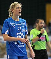 Handball 1. Bundesliga Frauen 2013/14 - Handballclub Leipzig (HCL) gegen Thüringer HC (THC) am 30.10.2013 in Leipzig (Sachsen). <br /> IM BILD: Susann Müller / Mueller (HCL) <br /> Foto: Christian Nitsche / aif