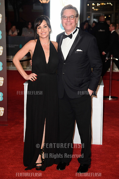 Aaron Sorkin &amp; Molly Bloom arriving for the BAFTA Film Awards 2018 at the Royal Albert Hall, London, UK. <br /> 18 February  2018<br /> Picture: Steve Vas/Featureflash/SilverHub 0208 004 5359 sales@silverhubmedia.com