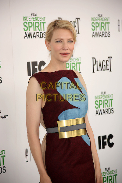 SANTA MONICA, CA - March 01: Cate Blanchett at the 2014 Film Independent Spirit Awards Arrivals, Santa Monica Beach, Santa Monica,  March 01, 2014. Credit: Janice Ogata/MediaPunch<br /> CAP/MPI/JO<br /> &copy;JO/MPI/Capital Pictures