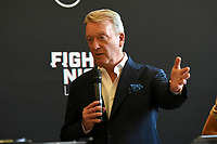 Frank Warren during a Press Conference at the Council Chamber, Bethnal Green on 10th August 2020