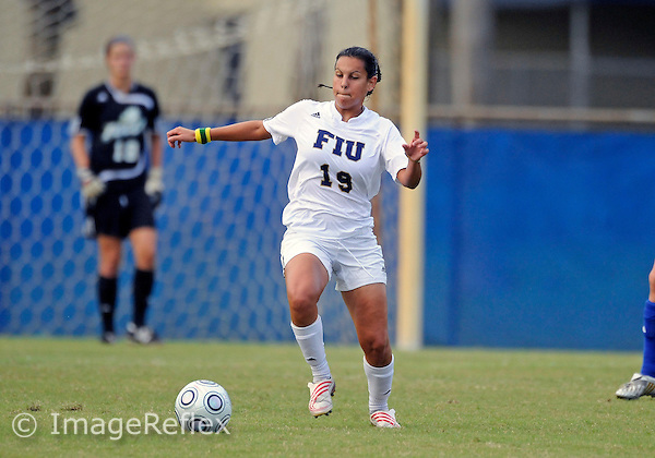 Florida International University women's soccer player Thaisa Moreno (19) plays against Florida Gulf Coast University on August 30, 2009 at Miami, Florida.  The game ended in a scoreless tie after two overtime periods. .