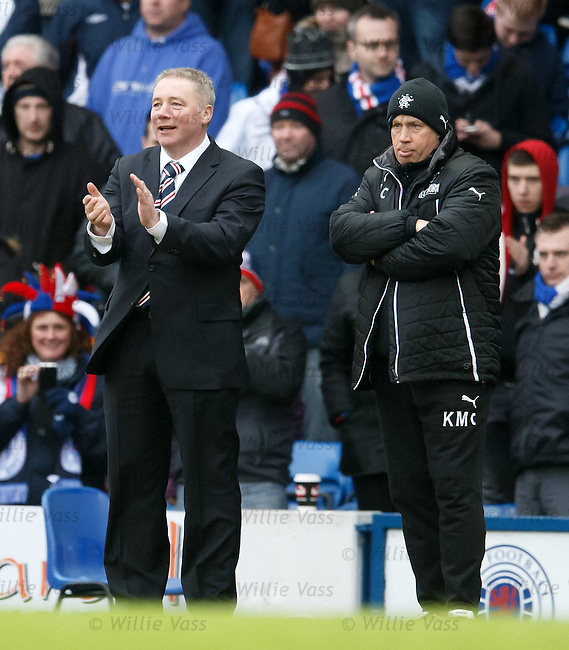 Ally McCoist applauds Calum Gallagher