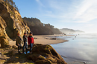 Hug Point just north of Arch Cape, on the North Oregon Coast, is best accessed at low tide.