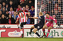 Shaun Miller of Sheffield United scores their third goal.  Sheffield United v Stevenage - npower League 1 -  Bramall Lane, Sheffield - 17th November, 2012. © Kevin Coleman 2012