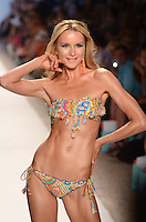 Elena Kurnosova walks runway at Luli Fama Swimwear Show during Mercedes Benz IMG Fashion Swim Week 2014 at The Raleigh Hotel, Miami Beach, FL on July 21, 2013