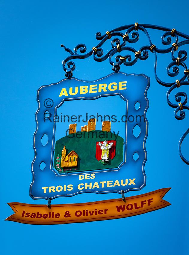 France, Alsace, Haut-Rhin, Guild Sign of a hostel | Frankreich, Elsass, Haut-Rhin, Zunftschild einer Herberge