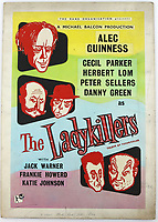 BNPS.co.uk (01202 558833)<br /> Pic: Ewbanks/BNPS<br /> <br /> The Ladykillers - £1500.<br /> <br /> Original Artists...<br /> <br /> Unique hand-painted artwork for classic movie posters from the halcyon days of the silver screen have been uncovered.<br /> <br /> The 150 designs were produced by W. E. Berry Ltd of Bradford, West Yorks, who were industry leaders in poster design for more than 75 years.<br /> <br /> Included in the sale are posters advertising British classic movies like Carve Her Name With Pride, The Titfield Thunderbolt and The Ladykillers.<br /> <br /> They belong to the family of William Edward Berry but they have now made them available for sale for the first time. The are expected to sell for £10,000.